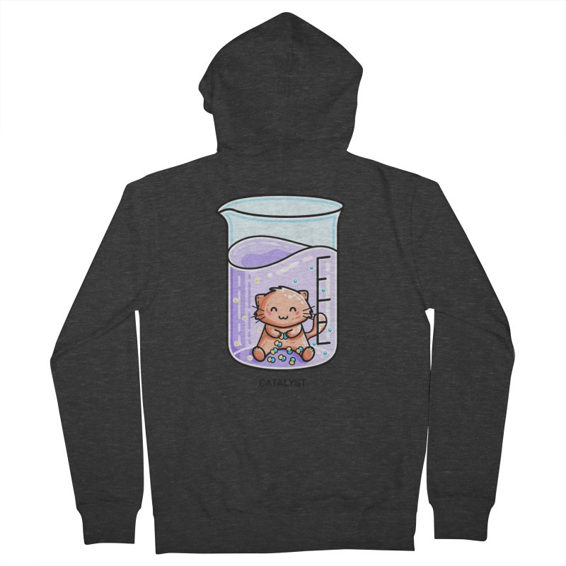 Catalyst Cute Chemistry Cat Pun Unisex Zip-Up Hoody by Flaming Imp's Artist Shop