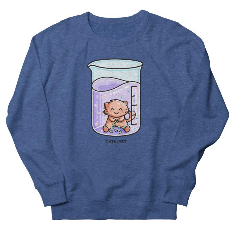 Catalyst Cute Chemistry Cat Pun Unisex Sweatshirt by Flaming Imp's Artist Shop