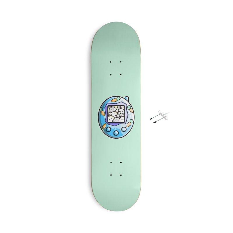 Rabbit Cute Digital Pet Accessories Skateboard by Flaming Imp's Artist Shop