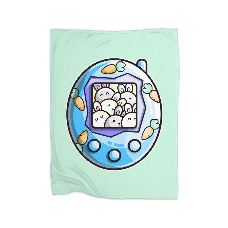 Rabbit Cute Digital Pet Home Fleece Blanket Blanket by Flaming Imp's Artist Shop