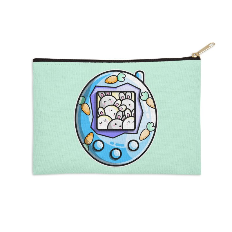 Rabbit Cute Digital Pet Accessories Zip Pouch by Flaming Imp's Artist Shop