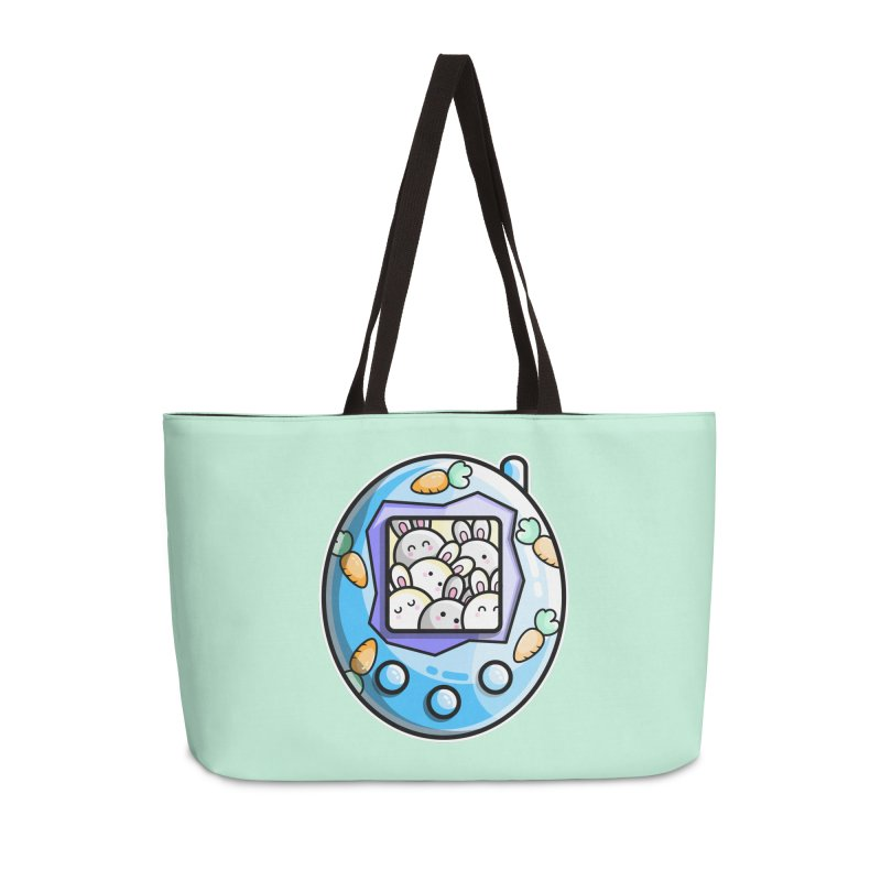 Rabbit Cute Digital Pet Accessories Weekender Bag Bag by Flaming Imp's Artist Shop