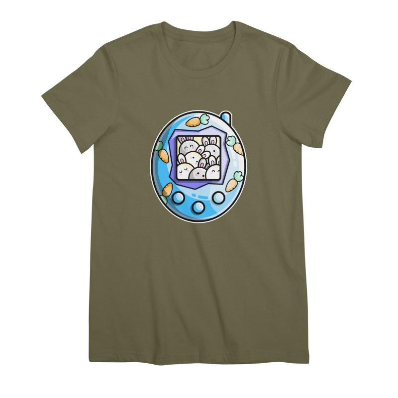 Rabbit Cute Digital Pet Women's Premium T-Shirt by Flaming Imp's Artist Shop