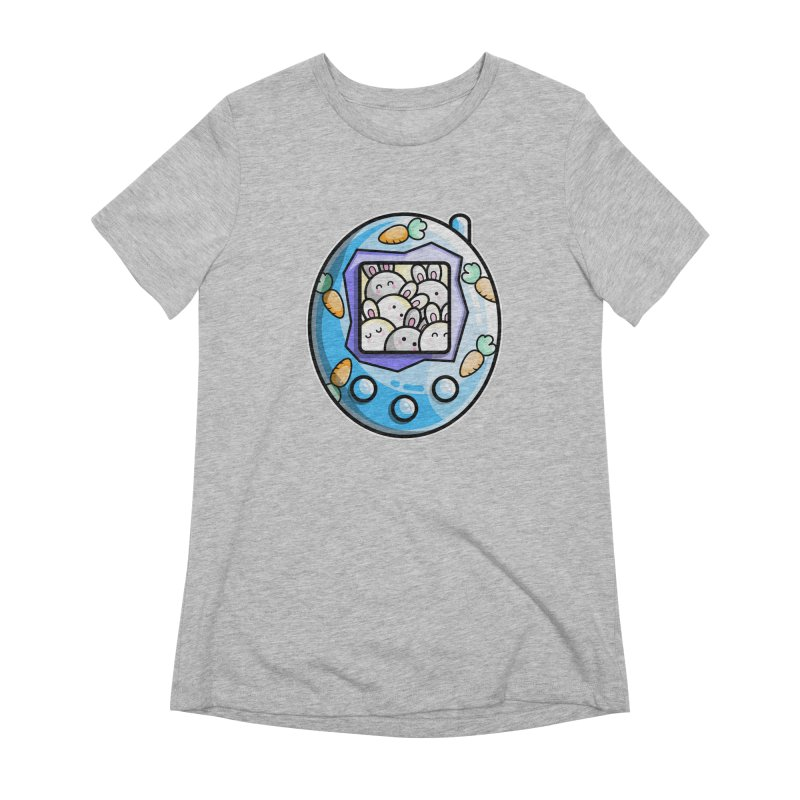 Rabbit Cute Digital Pet Women's T-Shirt by Flaming Imp's Artist Shop