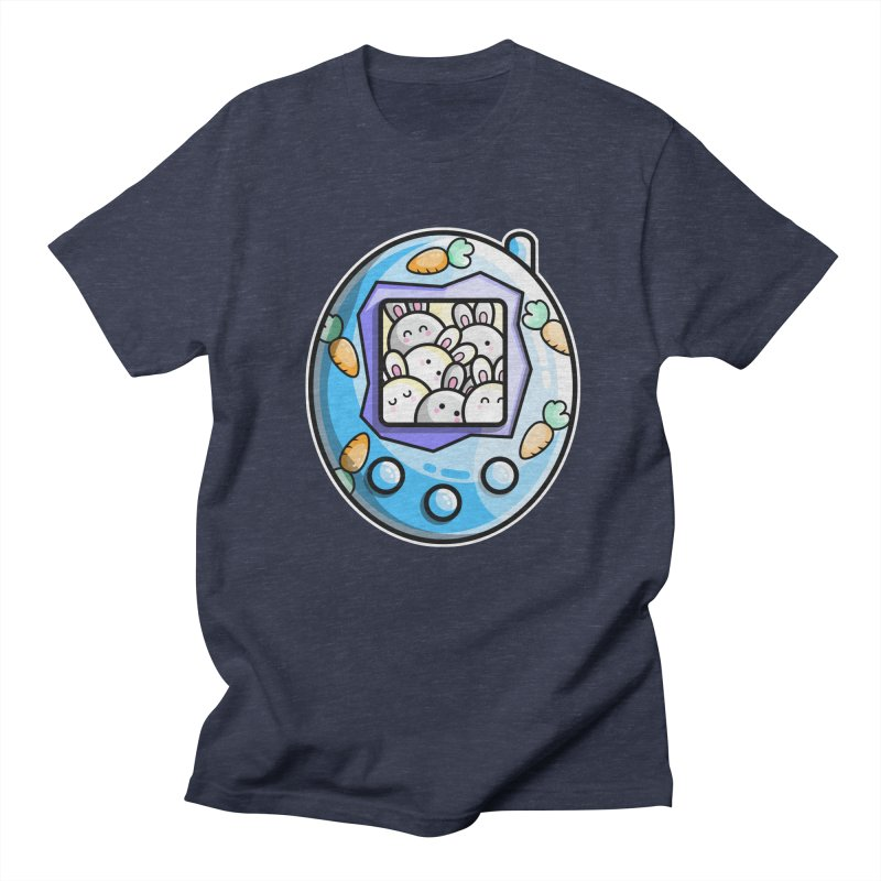 Rabbit Cute Digital Pet Men's Regular T-Shirt by Flaming Imp's Artist Shop