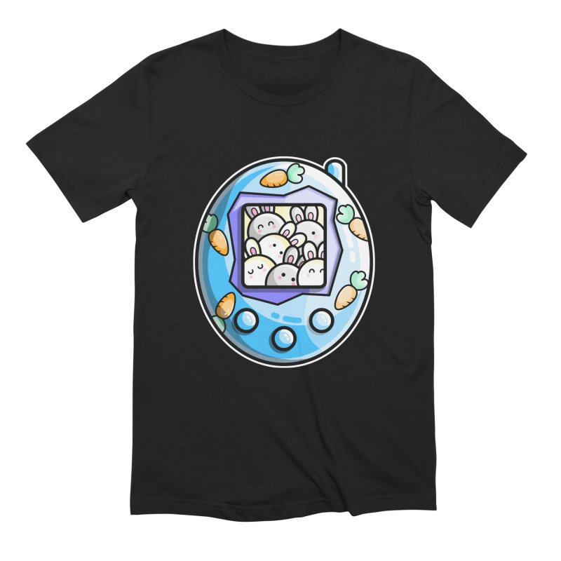 Rabbit Cute Digital Pet Men's T-Shirt by Flaming Imp's Artist Shop