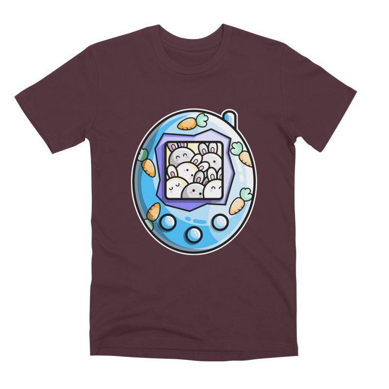 Rabbit Cute Digital Pet Men's T-Shirt by Flaming Imp's Artist Shop