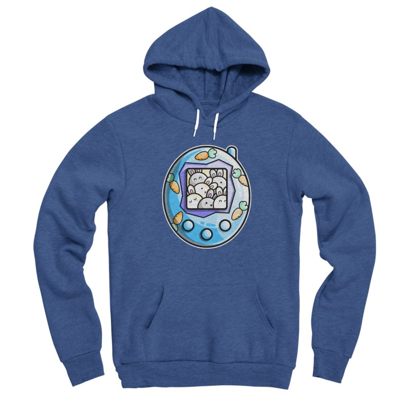 Rabbit Cute Digital Pet Men's Sponge Fleece Pullover Hoody by Flaming Imp's Artist Shop