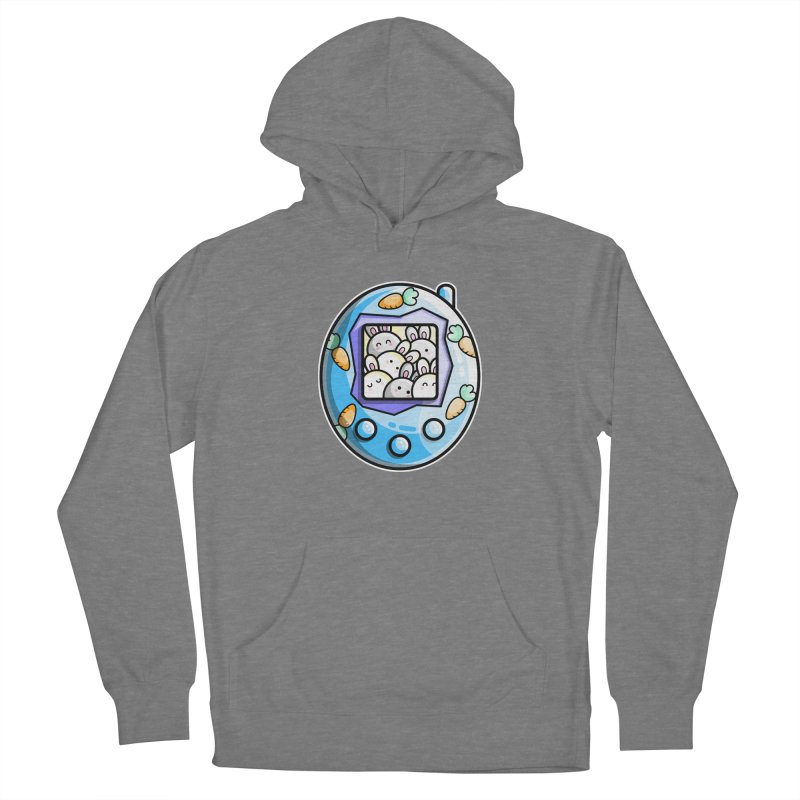Rabbit Cute Digital Pet Men's French Terry Pullover Hoody by Flaming Imp's Artist Shop