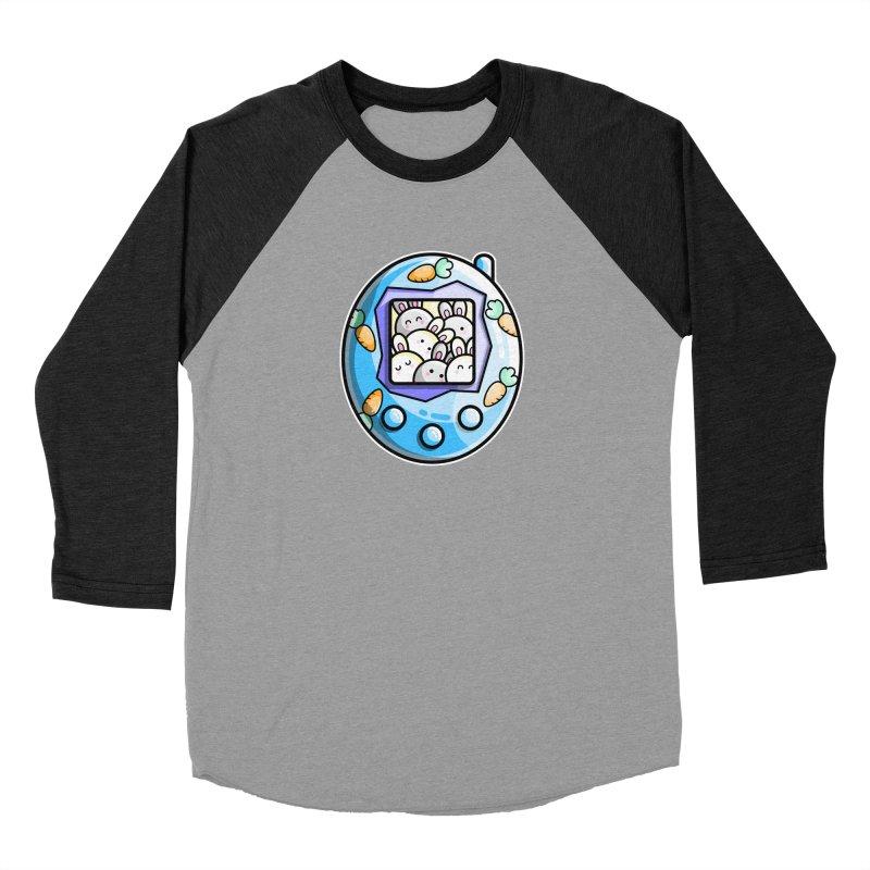 Rabbit Cute Digital Pet Women's Baseball Triblend Longsleeve T-Shirt by Flaming Imp's Artist Shop