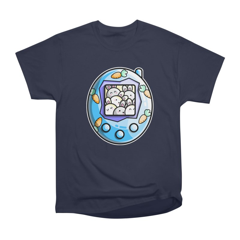 Rabbit Cute Digital Pet Men's Heavyweight T-Shirt by Flaming Imp's Artist Shop