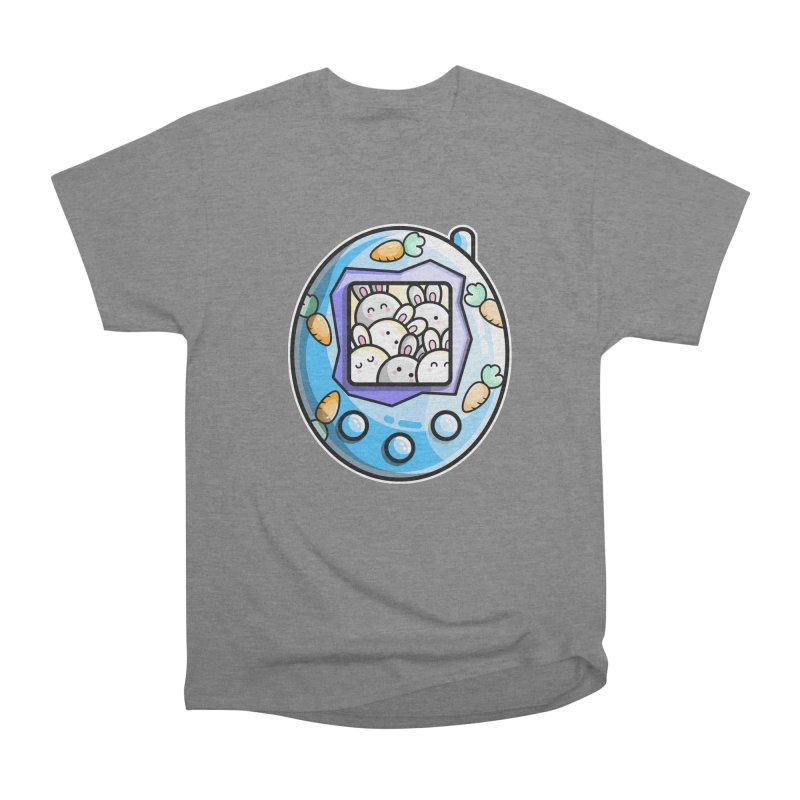 Rabbit Cute Digital Pet Men's Heavyweight T-Shirt by Flaming Imp's Artist Shop