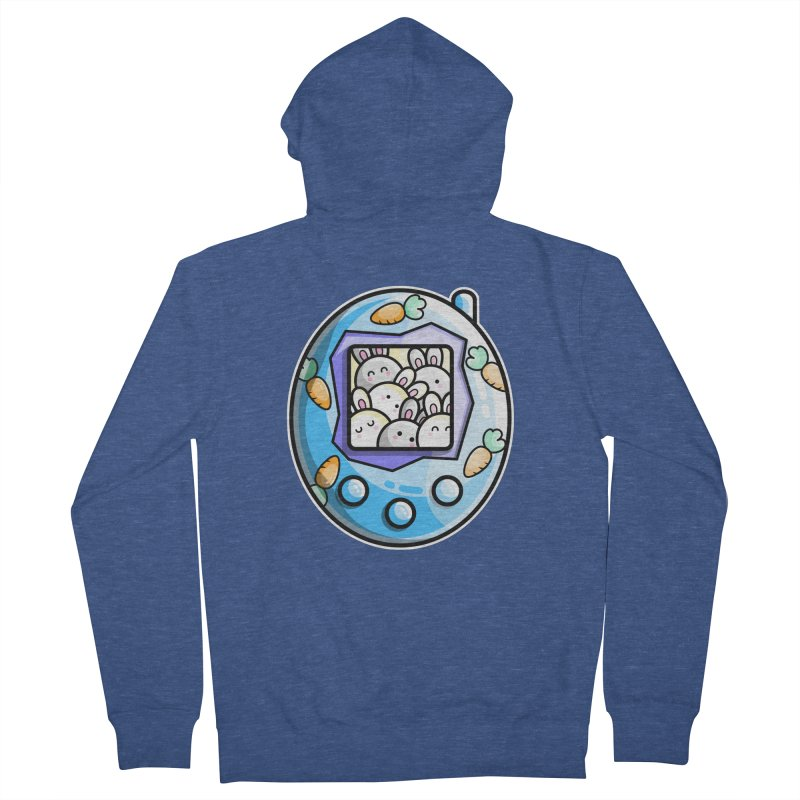 Rabbit Cute Digital Pet Men's Zip-Up Hoody by Flaming Imp's Artist Shop