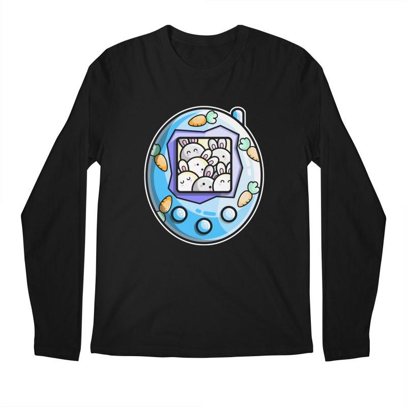 Rabbit Cute Digital Pet Men's Regular Longsleeve T-Shirt by Flaming Imp's Artist Shop