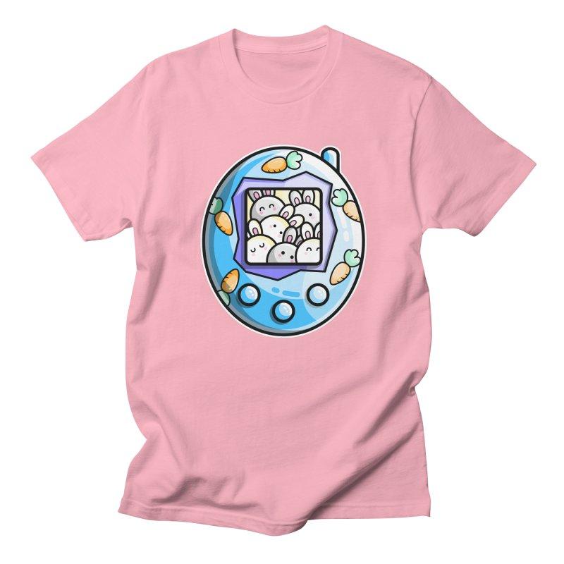 Rabbit Cute Digital Pet Women's Regular Unisex T-Shirt by Flaming Imp's Artist Shop