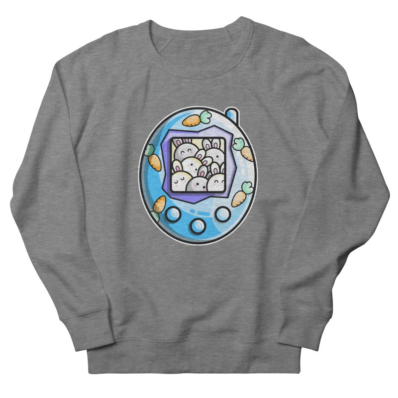 Rabbit Cute Digital Pet Men's French Terry Sweatshirt by Flaming Imp's Artist Shop