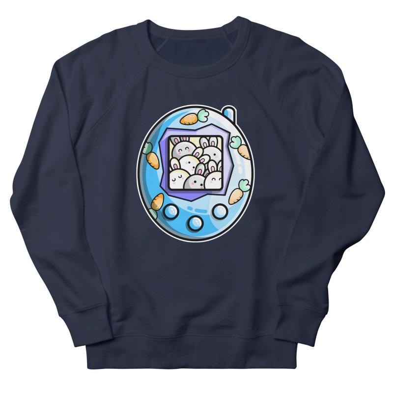 Rabbit Cute Digital Pet Men's French Terry Sweatshirt by Flaming Imp's Artist Shop