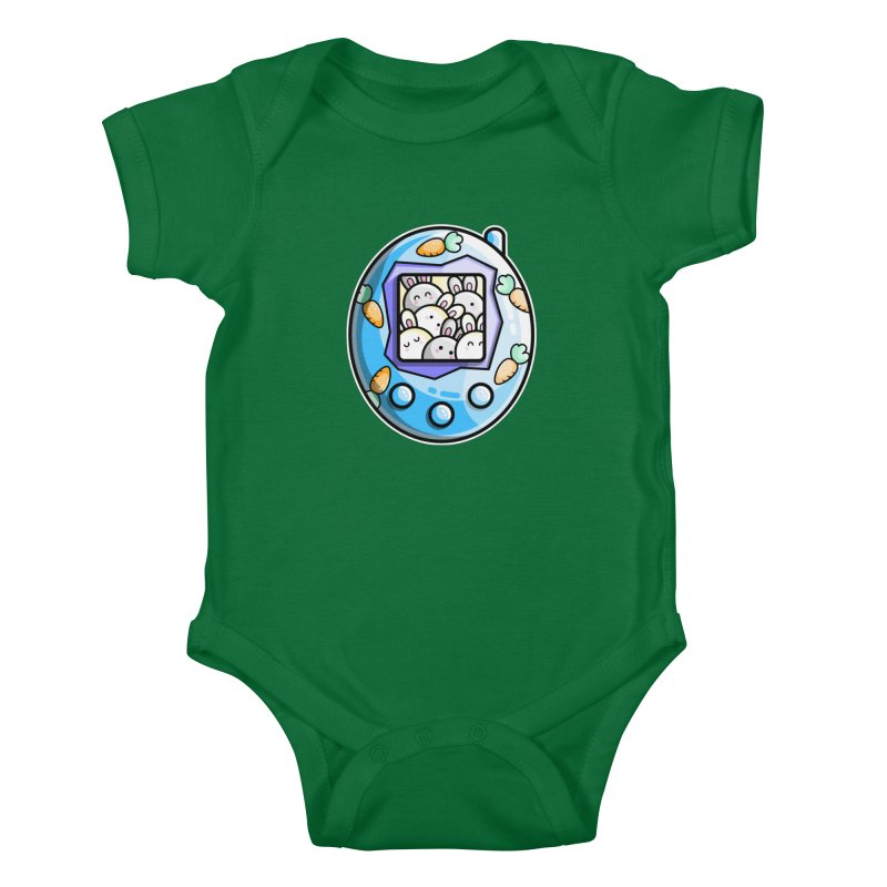 Rabbit Cute Digital Pet Kids Baby Bodysuit by Flaming Imp's Artist Shop