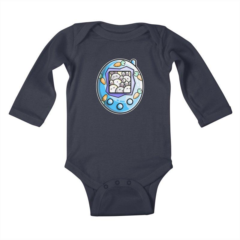 Rabbit Cute Digital Pet Kids Baby Longsleeve Bodysuit by Flaming Imp's Artist Shop