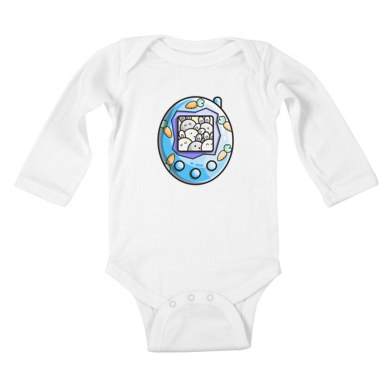 Rabbit Cute Digital Pet Kids Baby Longsleeve Bodysuit by Flaming Imp's Artist Shop