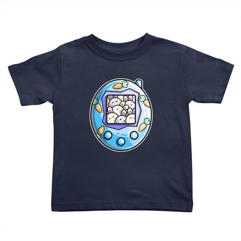 Rabbit Cute Digital Pet Kids Toddler T-Shirt by Flaming Imp's Artist Shop