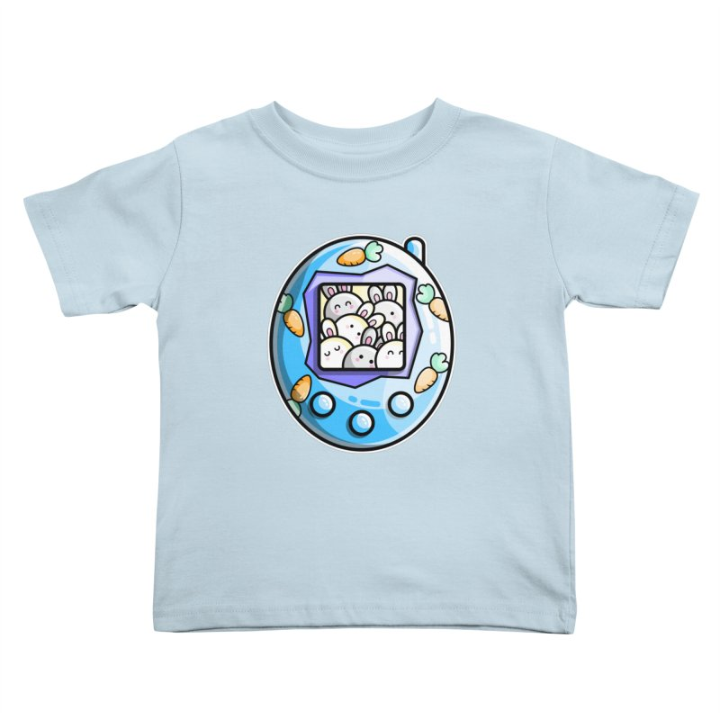 Rabbit Cute Digital Pet Kids Toddler T-Shirt by Flaming Imp's Artist Shop