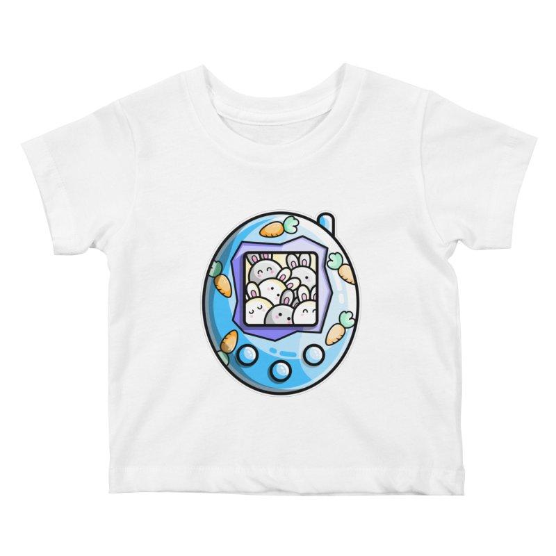 Rabbit Cute Digital Pet Kids Baby T-Shirt by Flaming Imp's Artist Shop
