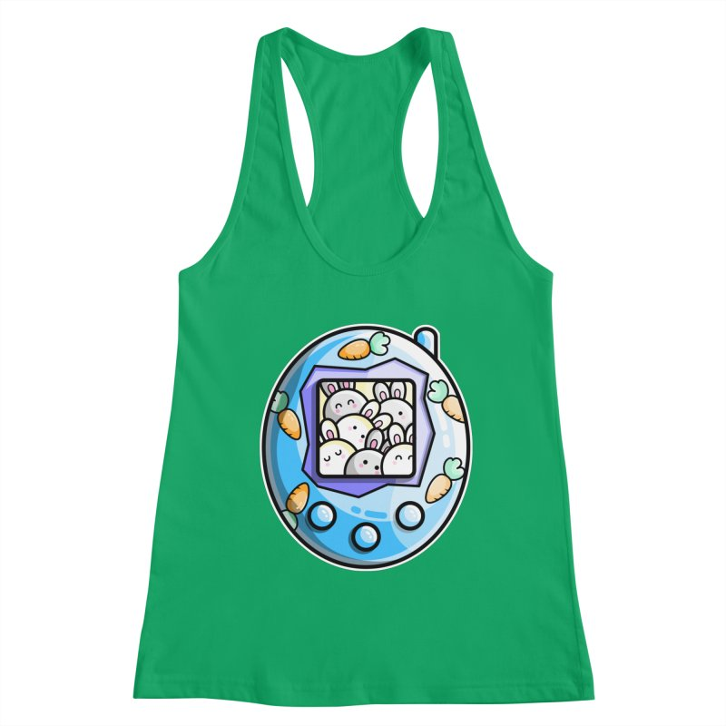 Rabbit Cute Digital Pet Fitted Tank by Flaming Imp's Artist Shop