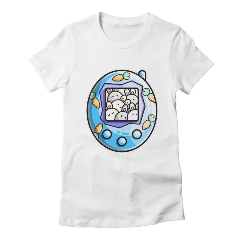Rabbit Cute Digital Pet Fitted T-Shirt by Flaming Imp's Artist Shop
