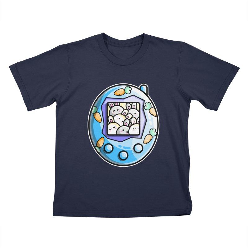 Rabbit Cute Digital Pet Kids T-Shirt by Flaming Imp's Artist Shop