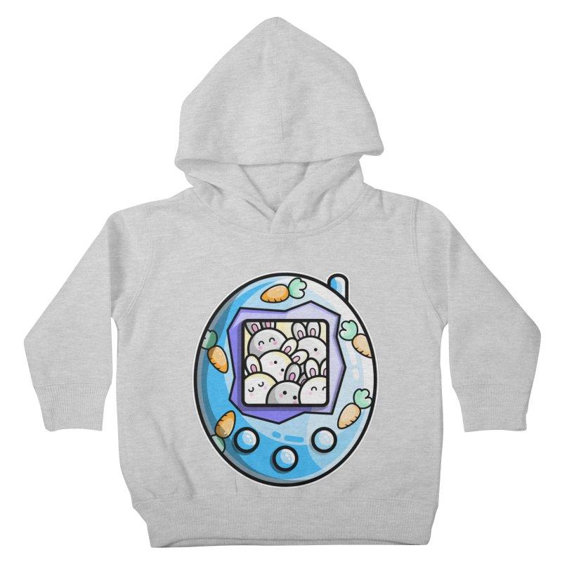 Rabbit Cute Digital Pet Kids Toddler Pullover Hoody by Flaming Imp's Artist Shop