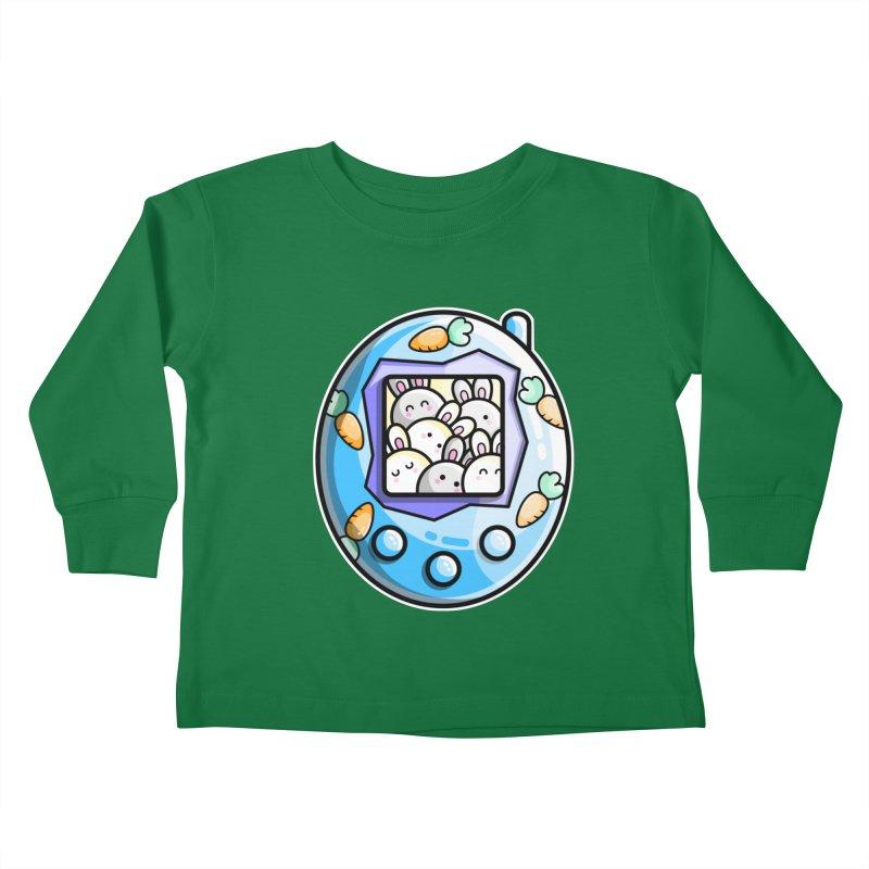 Rabbit Cute Digital Pet Kids Toddler Longsleeve T-Shirt by Flaming Imp's Artist Shop