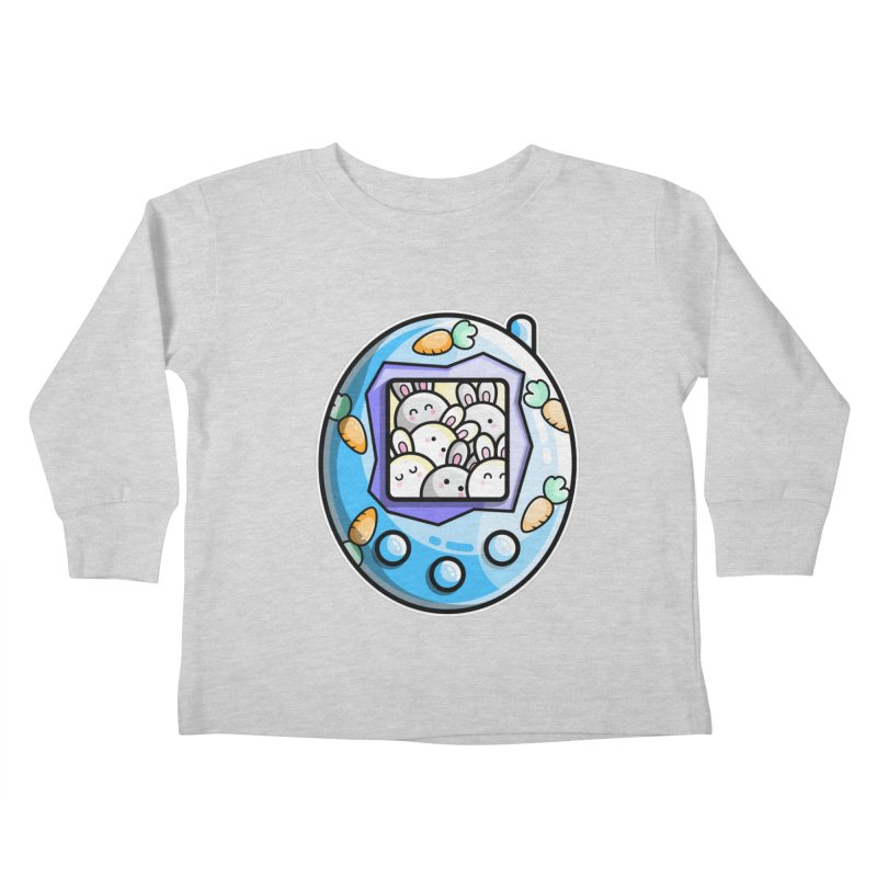 Rabbit Cute Digital Pet Kids Toddler Longsleeve T-Shirt by Flaming Imp's Artist Shop