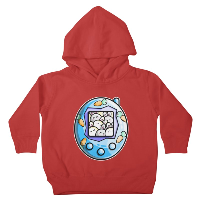 Rabbit Cute Digital Pet Kids Toddler Pullover Hoody by Flaming Imp's Artist Shop