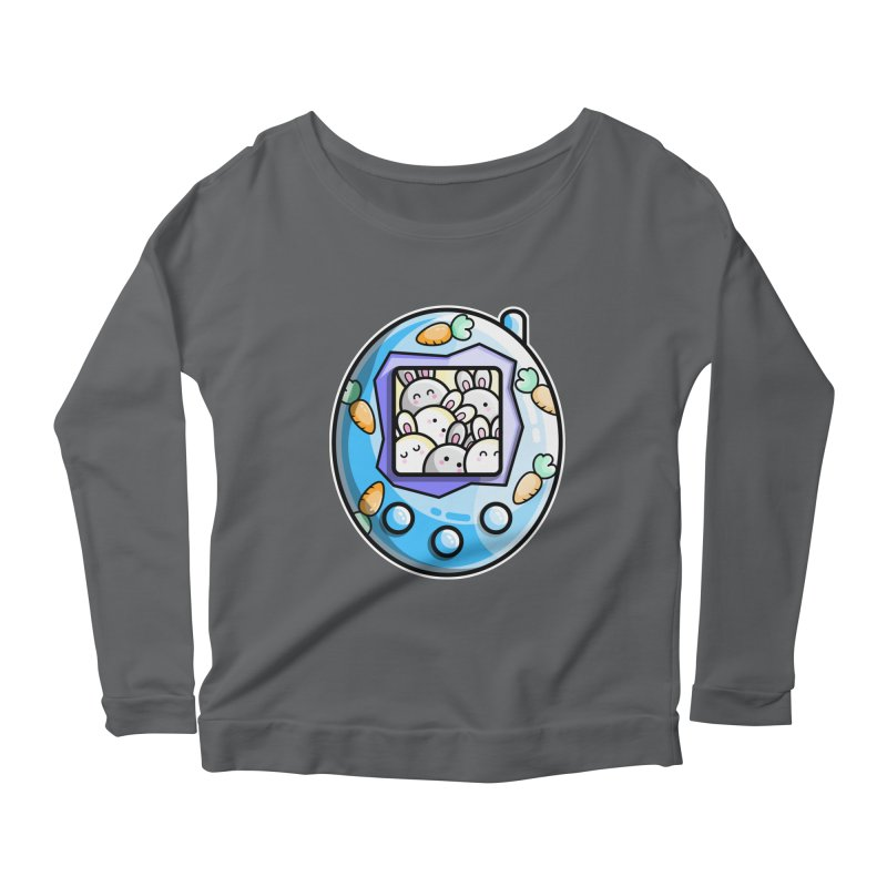 Rabbit Cute Digital Pet Women's Longsleeve T-Shirt by Flaming Imp's Artist Shop