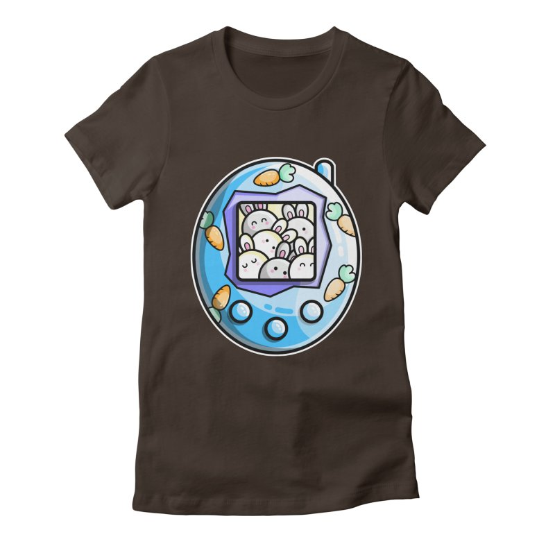 Rabbit Cute Digital Pet Women's Fitted T-Shirt by Flaming Imp's Artist Shop