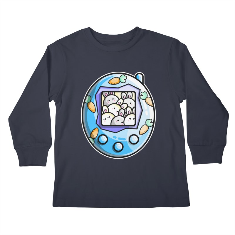 Rabbit Cute Digital Pet Kids Longsleeve T-Shirt by Flaming Imp's Artist Shop