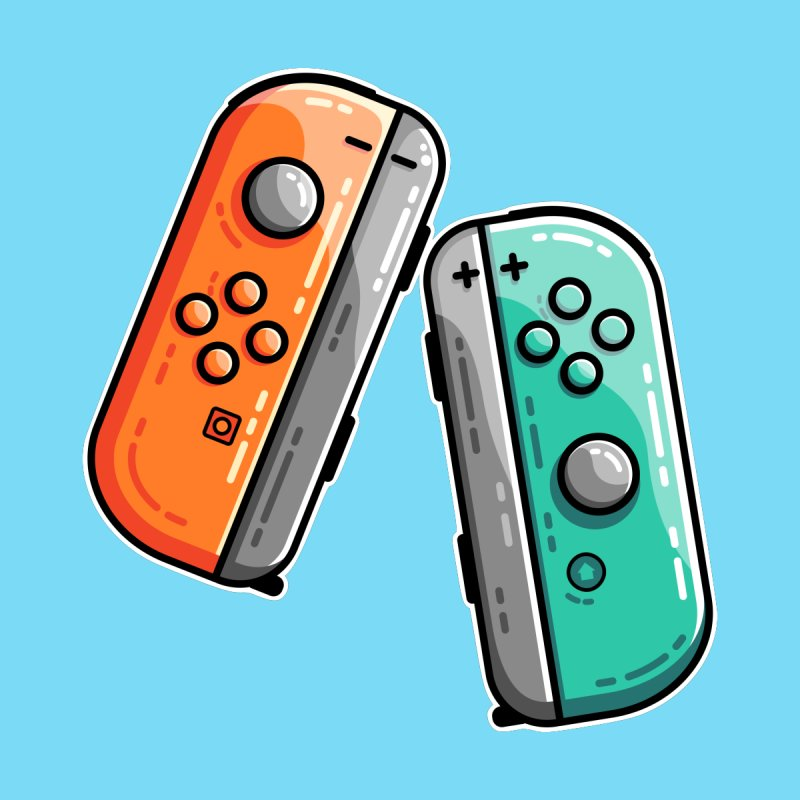 Gaming Controllers Home Fine Art Print by Flaming Imp's Artist Shop
