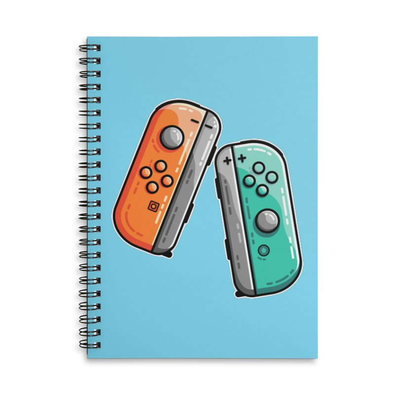 Gaming Controllers Accessories Lined Spiral Notebook by Flaming Imp's Artist Shop