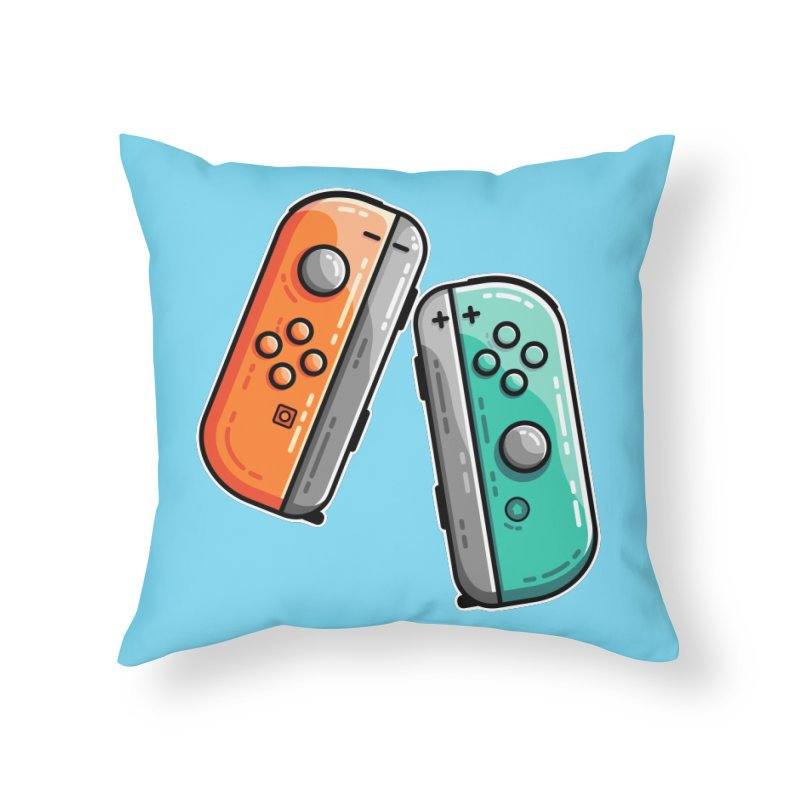 Gaming Controllers Home Throw Pillow by Flaming Imp's Artist Shop