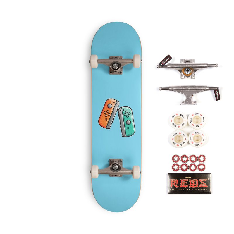 Gaming Controllers Accessories Skateboard by Flaming Imp's Artist Shop