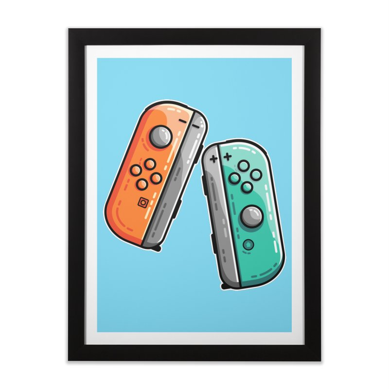 Gaming Controllers Home Framed Fine Art Print by Flaming Imp's Artist Shop