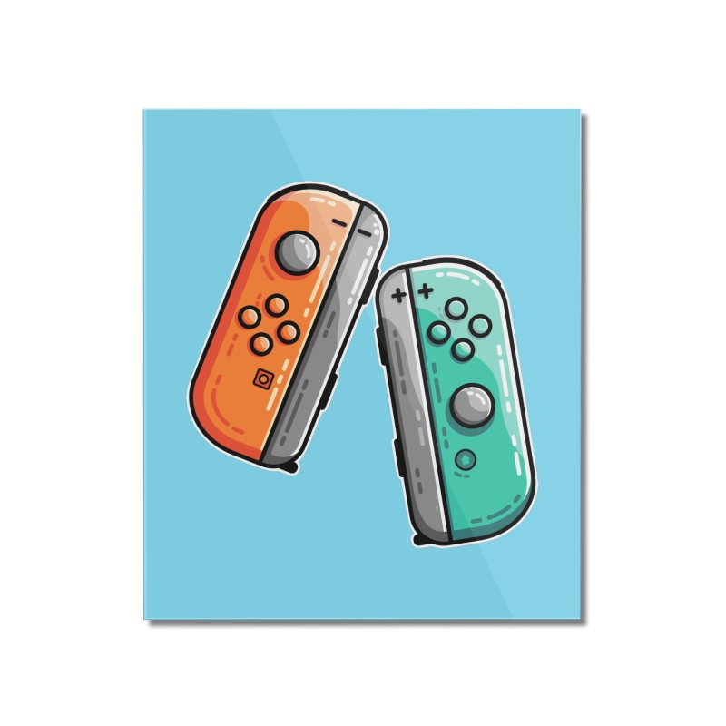 Gaming Controllers Home Mounted Acrylic Print by Flaming Imp's Artist Shop