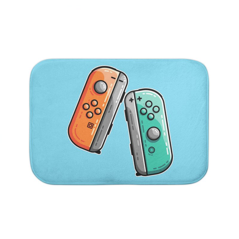 Gaming Controllers Home Bath Mat by Flaming Imp's Artist Shop