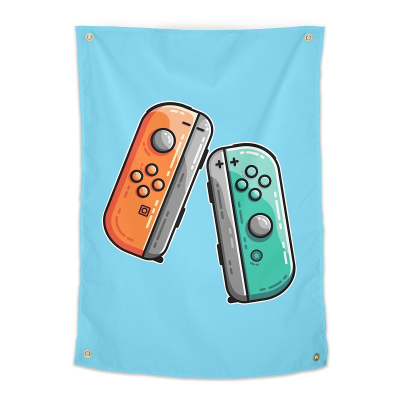 Gaming Controllers Home Tapestry by Flaming Imp's Artist Shop