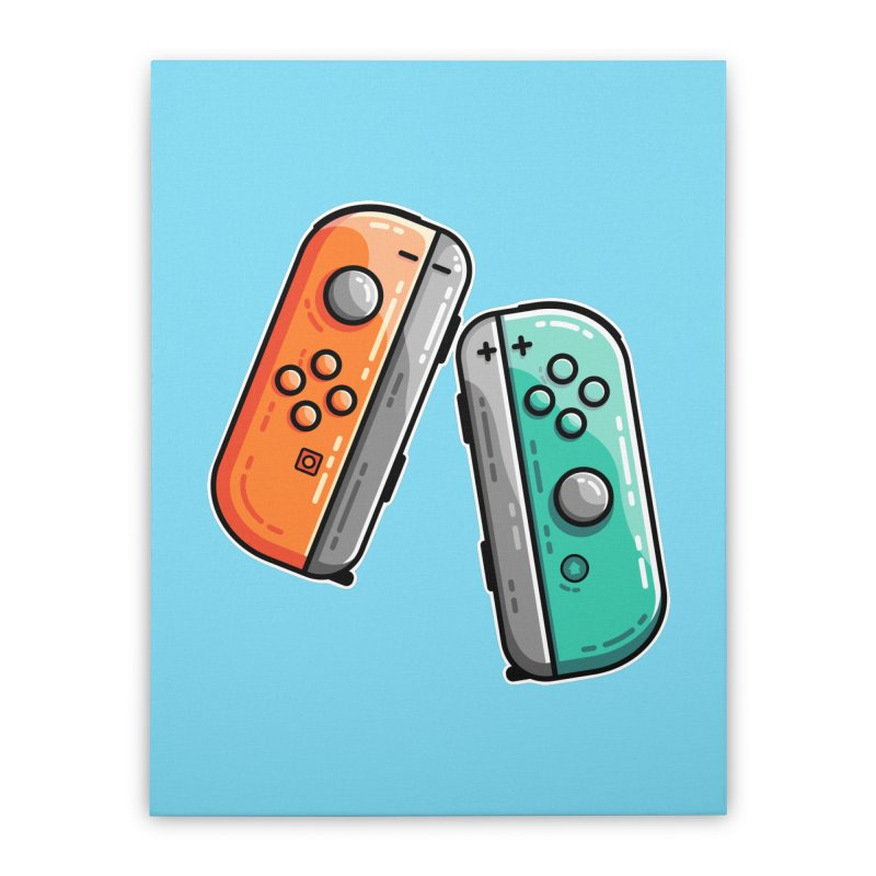 Gaming Controllers Home Stretched Canvas by Flaming Imp's Artist Shop