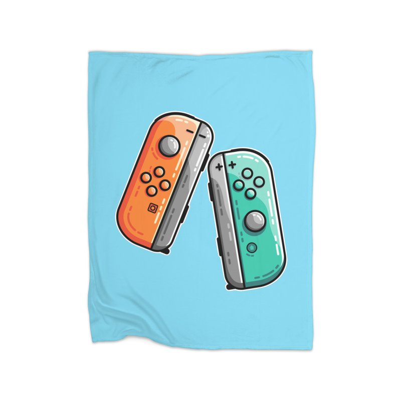 Gaming Controllers Home Fleece Blanket Blanket by Flaming Imp's Artist Shop