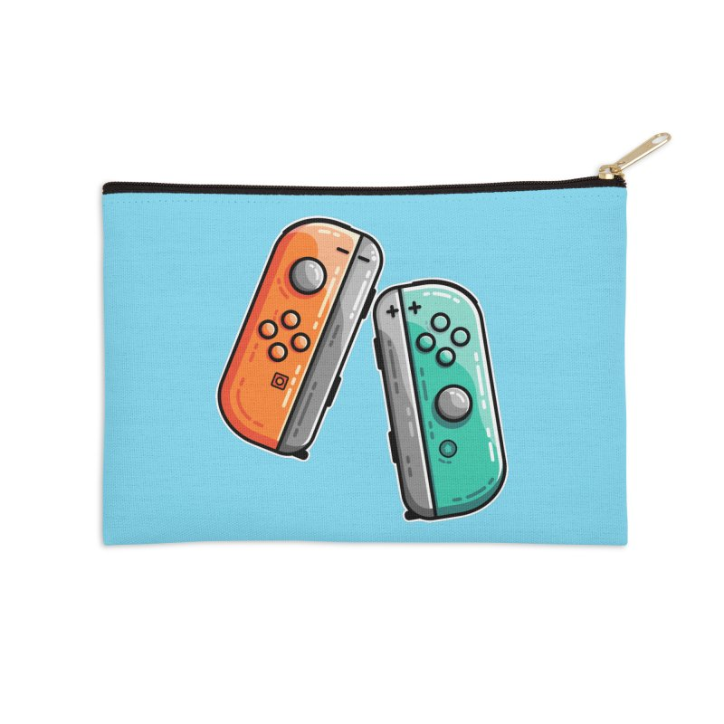 Gaming Controllers Masks + Accessories Zip Pouch by Flaming Imp's Artist Shop