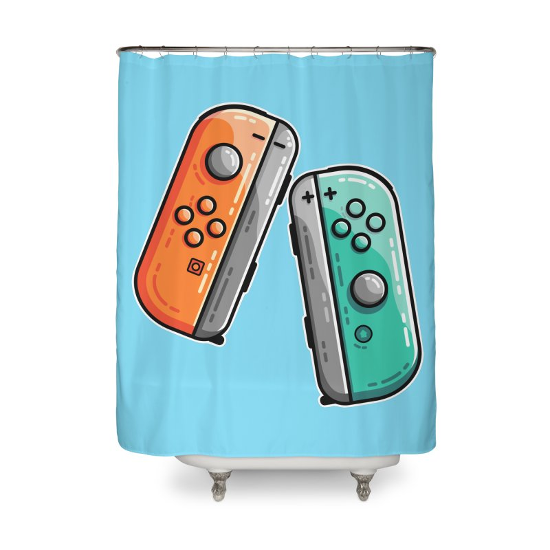 Gaming Controllers Home Shower Curtain by Flaming Imp's Artist Shop