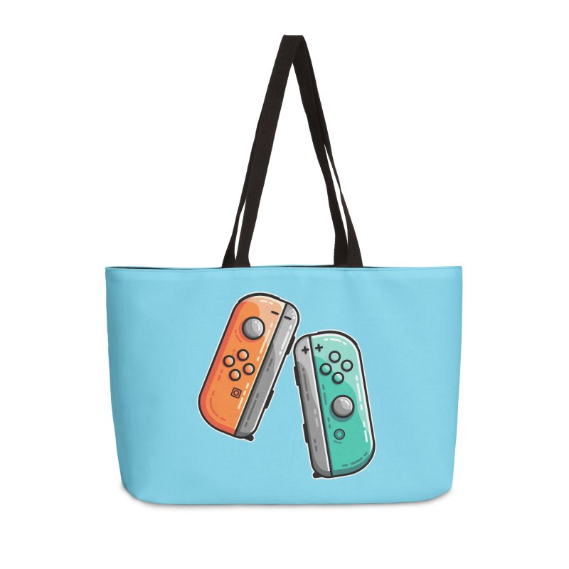 Gaming Controllers Accessories Weekender Bag Bag by Flaming Imp's Artist Shop